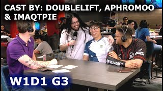 DoubleLift, Aphromoo & Imaqtpie cast Clutch Gaming vs Cloud 9 | W1D1 S8 NA LCS Summer 2018