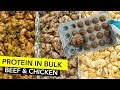 How to Cook Protein in Bulk - Chicken & Beef Meal Prep / Cocer Proteína en Grandes Cantidades