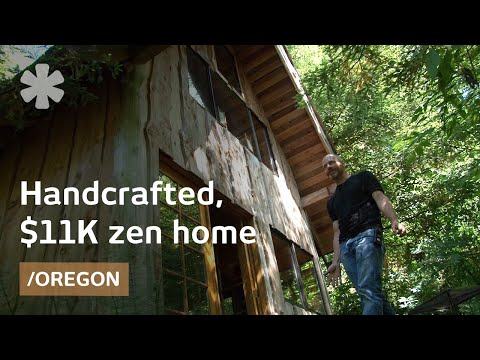 Zen Forest House 11k Handcrafted Small Home In Oregon Youtube