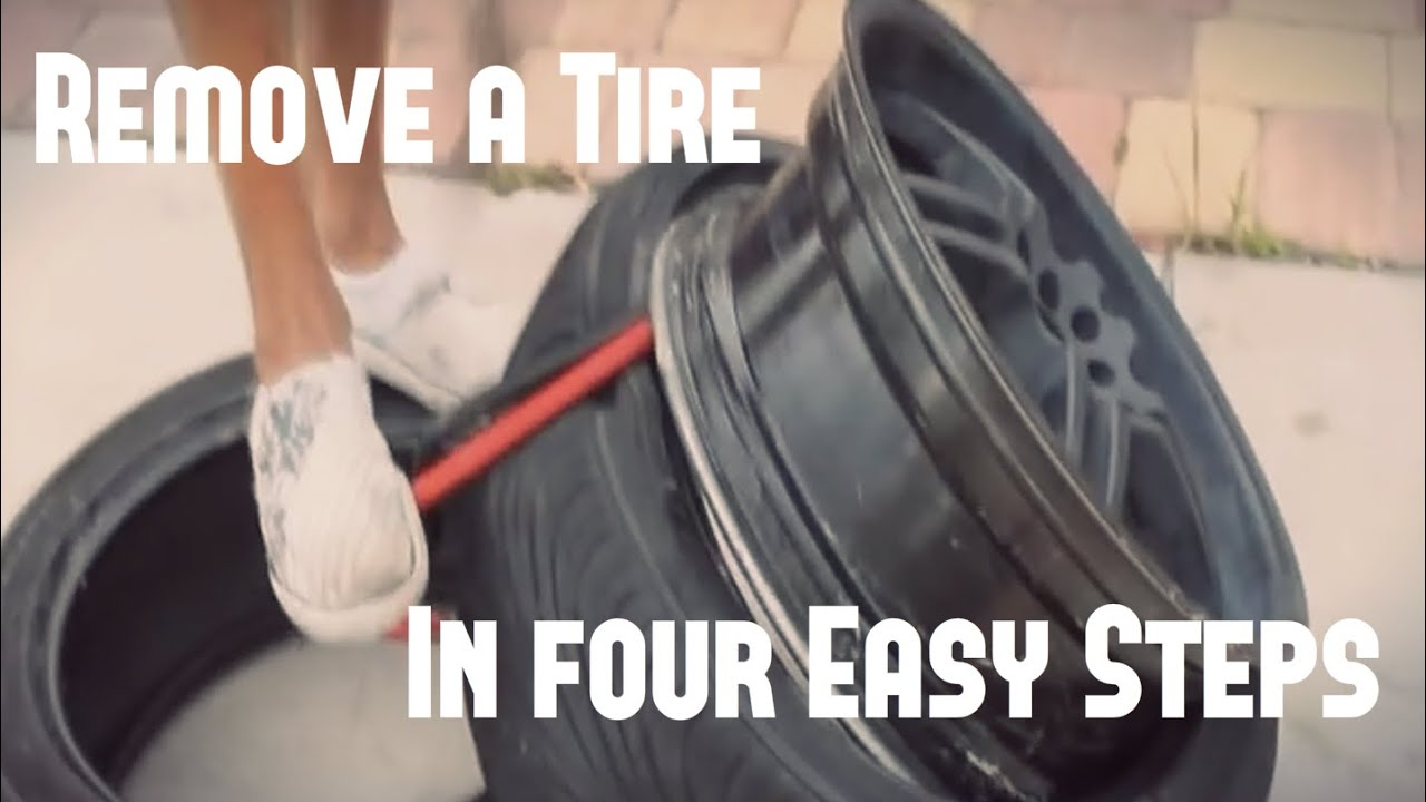 How To Remove A Tire From A Rim Youtube