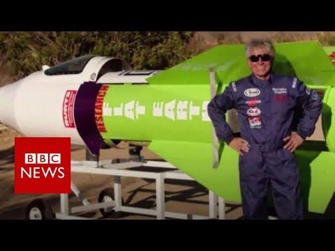 Man flies rocket to \'prove\' Earth is flat - BBC News