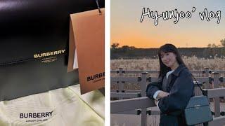 Hyunjoo vlog | 선물 언박싱 | 버버리 그레…