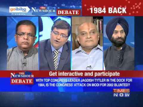 The Newshour Debate: Why was Jagdish Tytler given a clean chit for  '84 riots? (The Full Debate)
