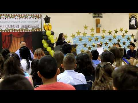 Alana Andrews Speaking at Lowes Island Elementary School 2018 Graduation