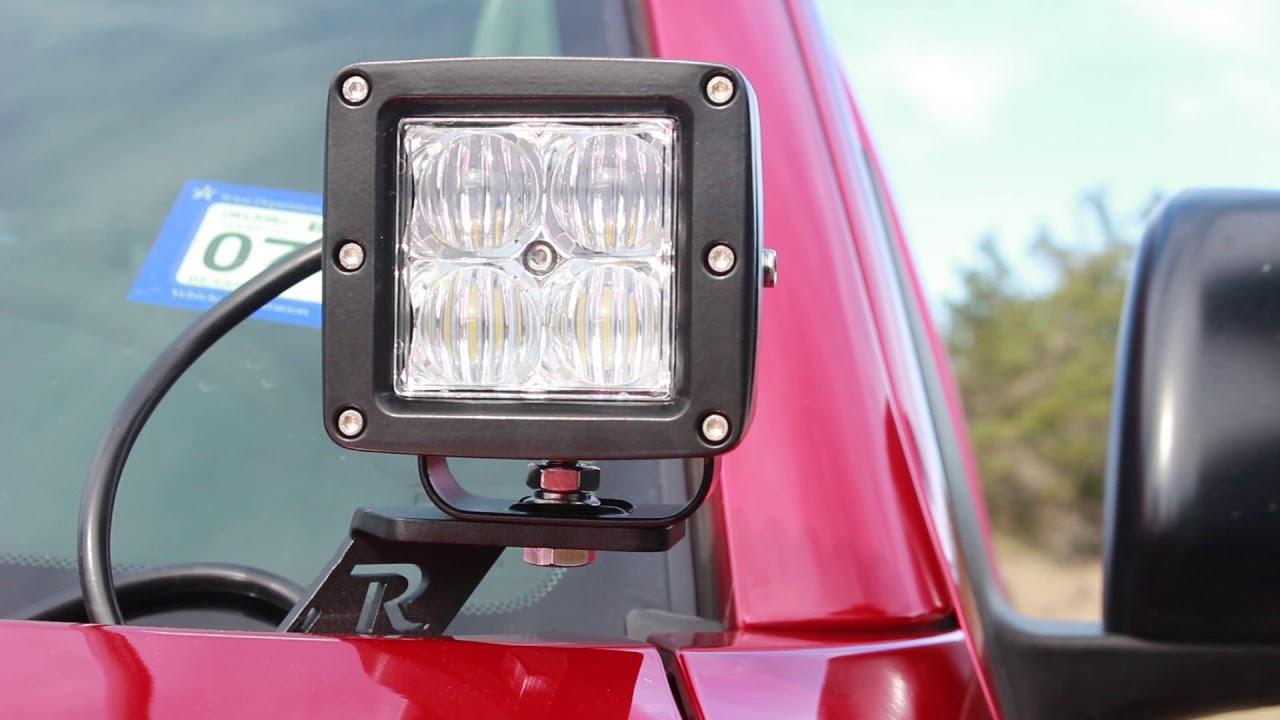 LED Light Pod Metal Hood Mount Bracket Kit//Ditch Hood Light Brackets Fits for 2010 Toyota 4Runner