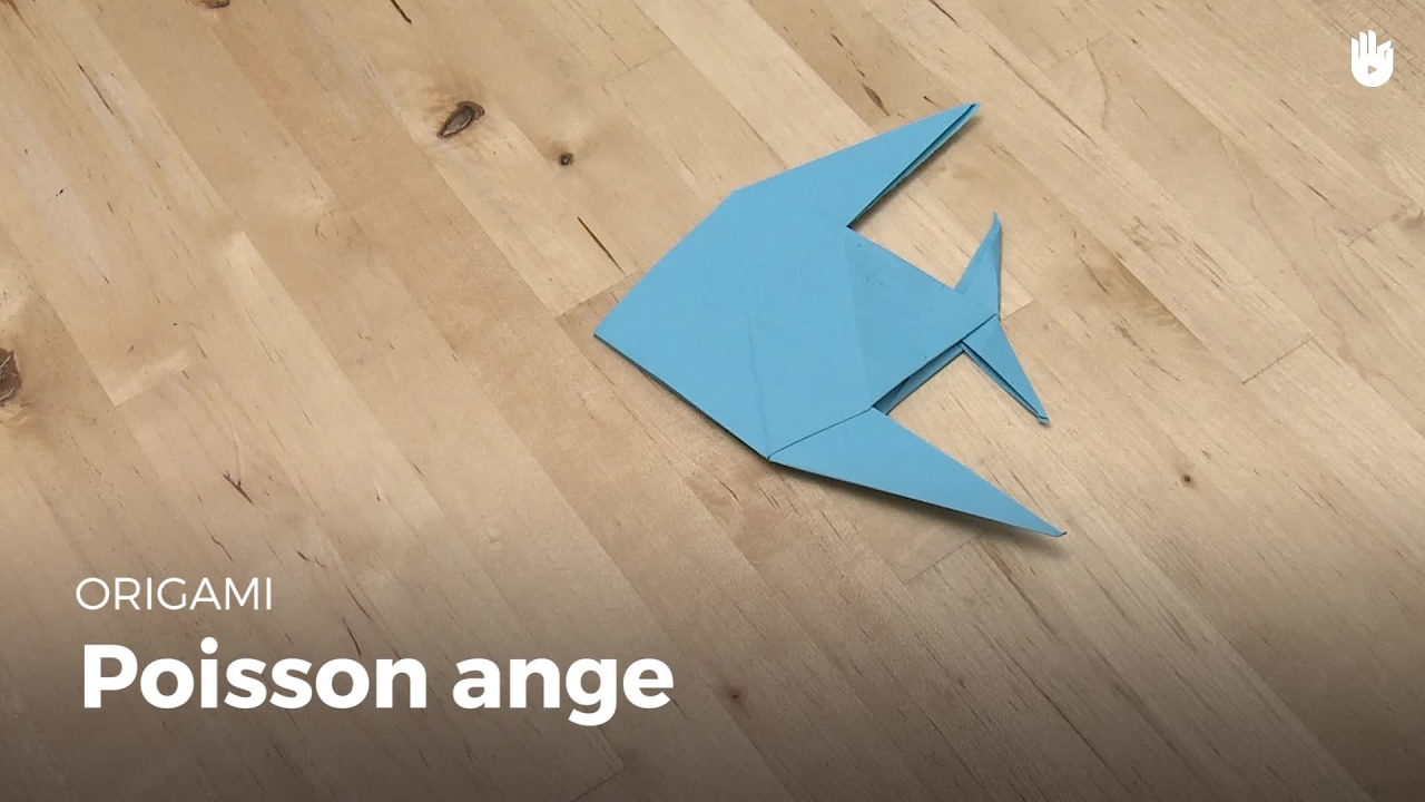 Faire Un Poisson Ange Origami Youtube