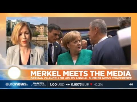 euronews (in English): Merkel Meets The Media: German Chancellor holds annual summer news conference