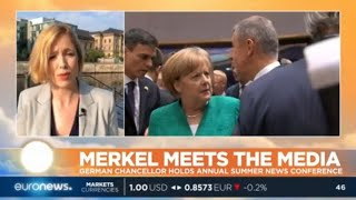 Merkel Meets The Media: German Chancellor holds annual summer news conference