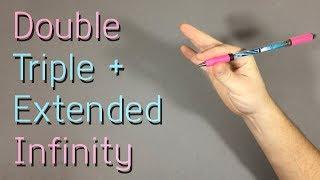 Double, Triple + Extended Infinity – Обучение Pen Spinning для Начинающих