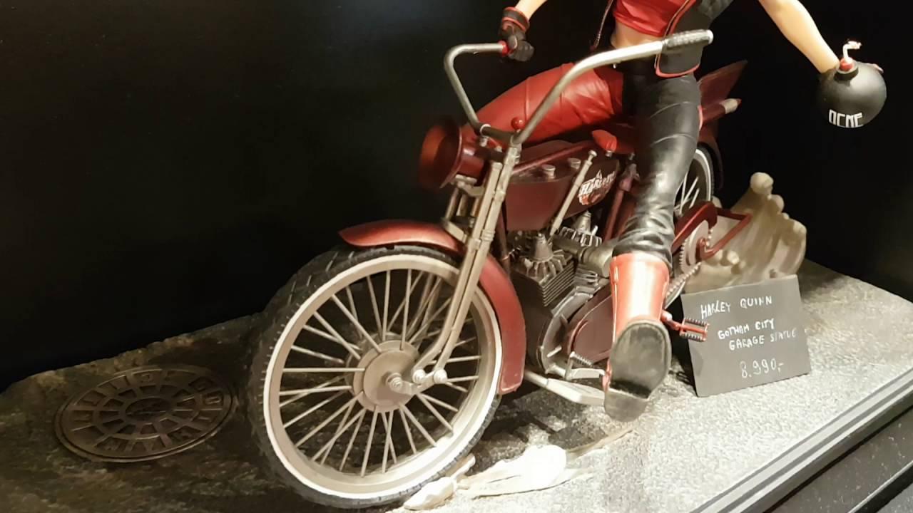 Gotham City Garage Statues Harley Youtube