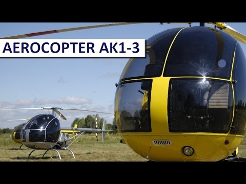 Aerocopter AK1-3. Amateur home built helicopter kit version