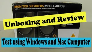 Behringer Media 40USB Unboxing and review