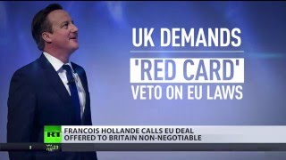 'EU not going to change': France calls UK's demands non-negotiable