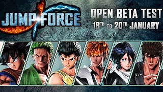 OFFICIAL JUMP FORCE OPEN BETA TIMES FOR PS4 & INFO! New Playable Characters & Stages!