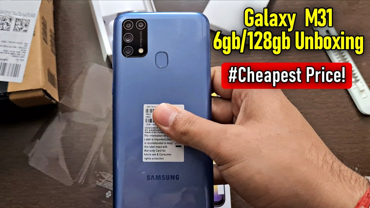 Samsung Galaxy M31 6GB/128GB Iceberg Blue Unboxing  64MP  6000 mAh  Cheapest Price Ever!!!