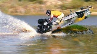 Оффроуд на лодках! Испытываем мотор - болотоход Бурлак!