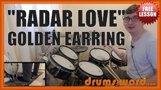★ Radar Love (Golden Earring) ★ FREE Drum Lesson | How To Play Drum BEAT (Cesar Zuiderwijk)