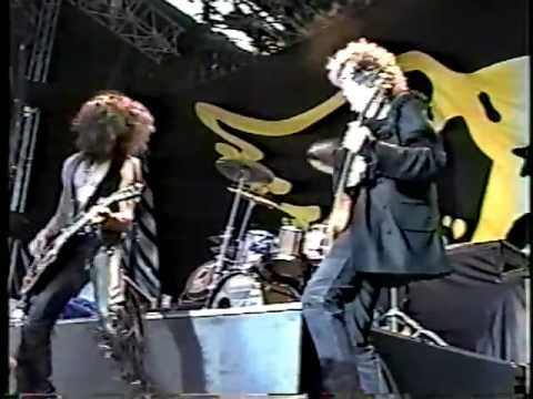 Jimmy Page & Aerosmith onstage and backstage at Donington 1990
