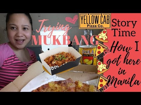 Mukbang feat. Yellow Cab Pizza and Pasta | Story Time: how I got here in Manila