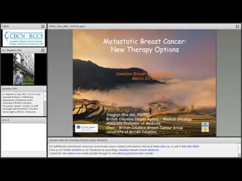 Webinar: Metastatic Breast Cancer - New Therapy Optionis
