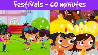 Festivals Of India | Different Types Of Festivals | Kids Festival Compilation Video | Jalebi Street