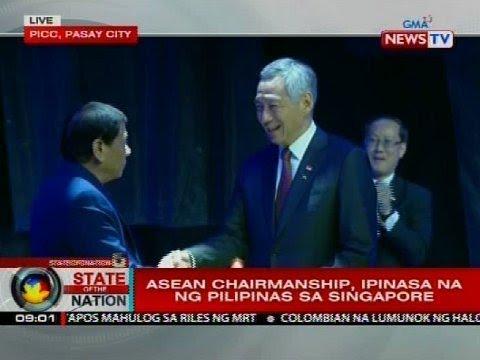SONA: ASEAN chairmanship, ipinasa na ng Pilipinas sa Singapore
