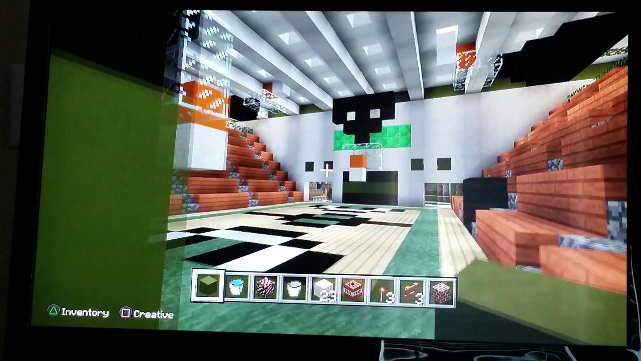 North hall high school in minecraft new gym youtube