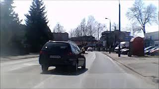 Wyprzedzanie na skrzyżowaniach... Dąbrowa Górnicza ul. 11 Listopada