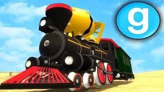 Gmod Sandbox - CRAZY TRAIN NUKE!! Garry