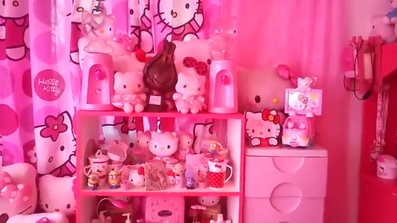Hello kitty room tour collections  YouTube