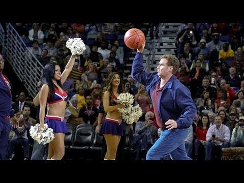 Will Ferrell Hits Cheerleader with Basketball While Filming New Movie