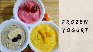 Flavoured Frozen Yogurt| Ice Cream With Curd|| इस समर ये दही से बनाया हुआ ठंडा डिजर्ट को जरूर बनाये