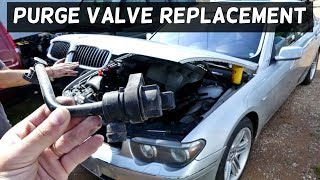 BMW E65 E66 PURGE VALVE REPLACEMENT REMOVAL CODE P0444 FIX
