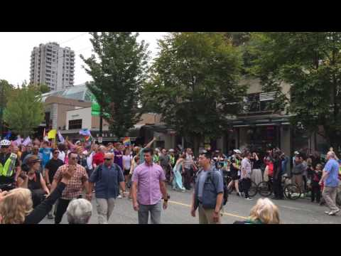 Justin Trudeau and Gregor Robertson at the Vancouver Pride Parade!