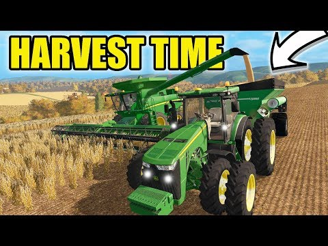 FARMING SIMULATOR 2017 | RUNNING FULL THROTTLE WITH JD 680! HARVEST IS HERE | EP #36