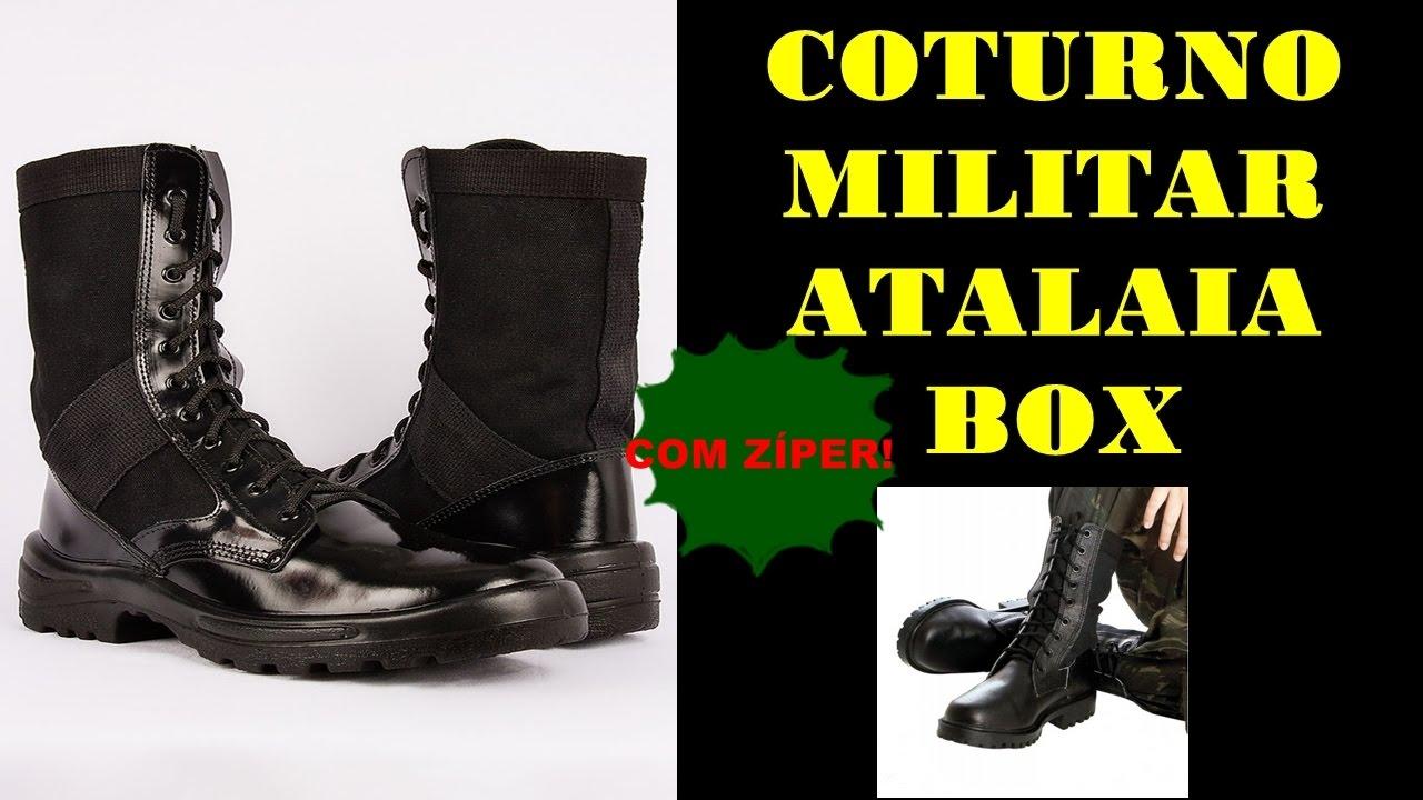 7a7e1fa695bb9 Coturno Tático Troller Atalaia Alto Brilho Com Ziper - Onde compra  Compre  Aqui!!!