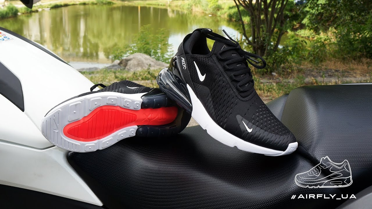 Nike Air Max 270 Black Anthracite White Solar Red Youtube