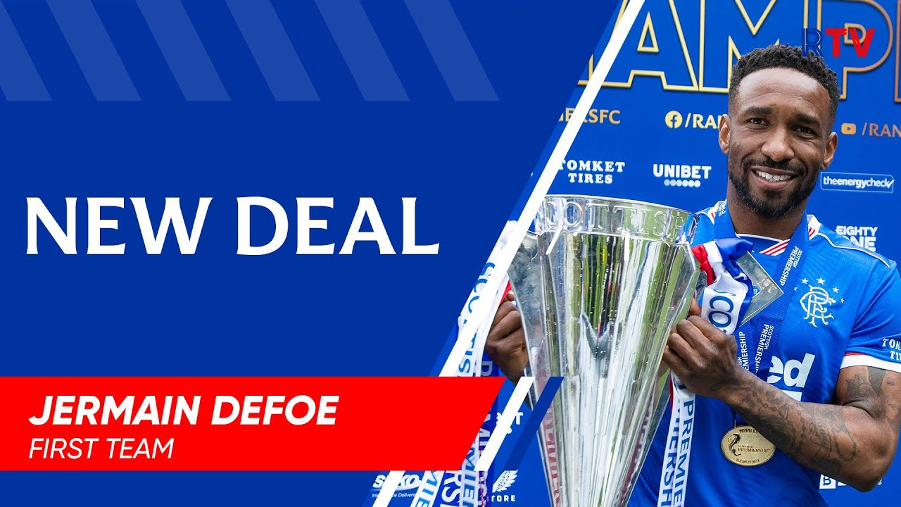 Jermain Defoe signs new Rangers deal