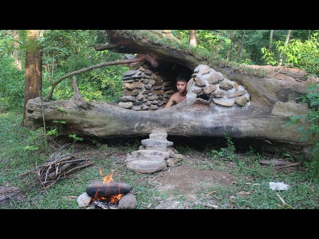 Primitive Technology: Build House in the Trunk