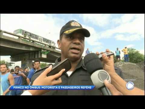 Cidade Alerta acompanha negociação da polícia com sequestrador de ônibus