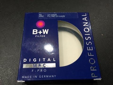 B+W UV Filter Unboxing