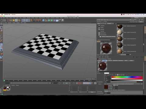 Cinema 4D Tutorial - How to Model a Chess Set - Part 8: Chess Board