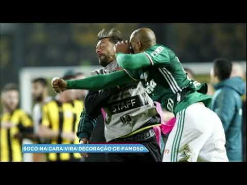 Hora da Venenosa: jogador do Palmeiras cria decoração com foto de briga