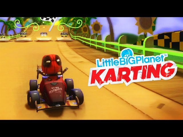 LittleBigPlanet Karting With Deadpool - Green Hill Zone (Sonic) | EpicLBPTime