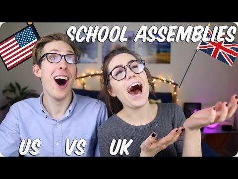 School Assemblies! | British VS American | Evan Edinger & Dodie Clark