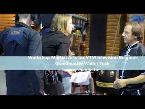 GM Walter Toch invited on VTM television for martial arts Belgium