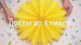 🌼DIY большие цветы из бумаги 40 см.🌼 3D цветы🌼