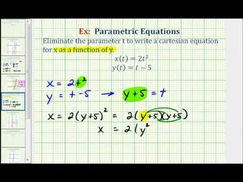 Eliminate the parameter and write a rectangular equation