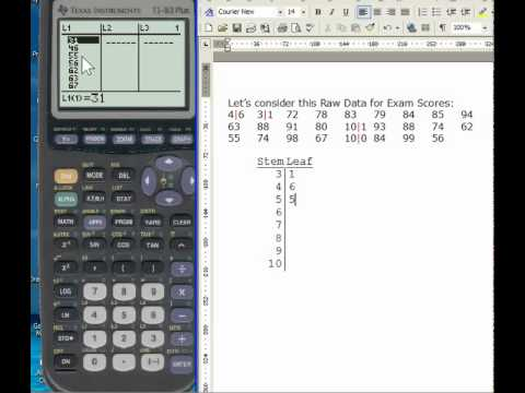 Create A Box And Whisker Plot On The Ti 83 84 Calculator
