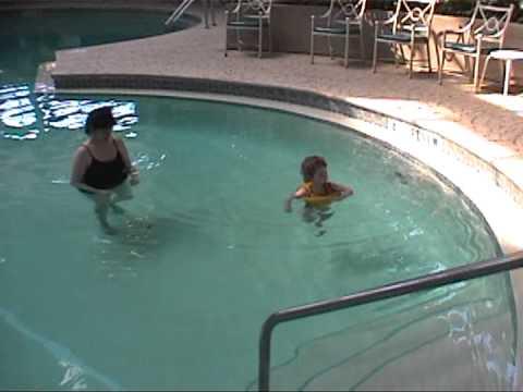 2002 04 25 Swimming In Hotel Pool At Navarre Beach